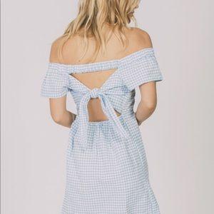 Cleobella Lou Lou Off-The Shoulder Gingham Dress